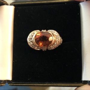 925 Rose gold toned ring